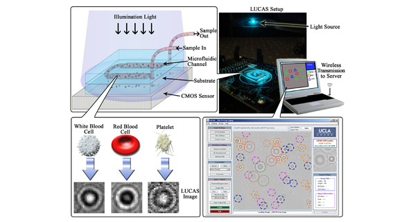 Towards Wireless Health: Lensless On-Chip Cytometry