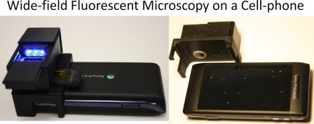 "Cost-effective and Compact Wide-field Fluorescent Imaging on a Cell-phone"", Lab on a Chip"